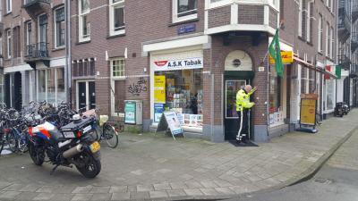 Overval op tabakszaak in Amsterdam