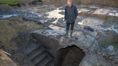 Aangetroffen kelder in De Grote Kazerne in Delfzijl nog goed intact