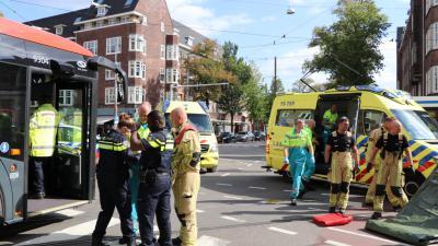 Hulpverleners op plaats van ongeval