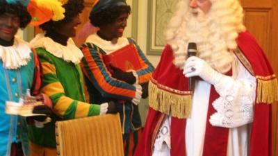 Foto van persconferentie Sinterklaas in Groningen   Bert van den Berg