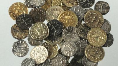 Foto van gevonden munten in Utrecht   RCE