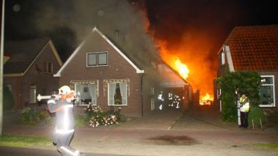 Foto van brand in Hollandscheveld   Henk Brunink