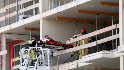 bouwvakker gewond