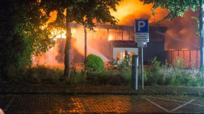 Foto van brand in Groningen
