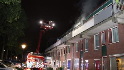 foto van woningbrand in Vlaardingen