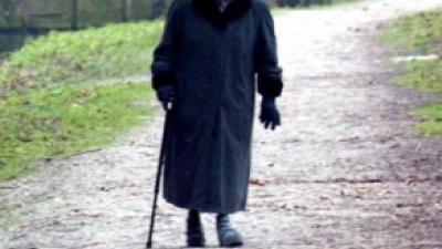 Foto van bejaarde vrouw