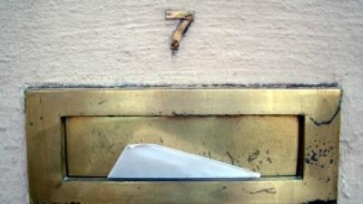 Foto van brief in brievenbus | Archief FBF.nl
