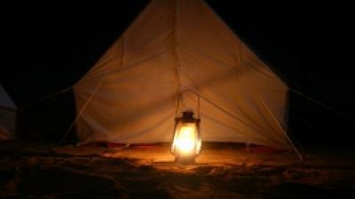 Foto van tent met lamp | Archief FBF.nl
