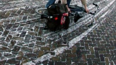 Foto van gladde weg | Archief FBF.nl