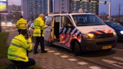 Foto van aanrijding met politieauto | Archief Flashphoto.nl | www.flashphoto.nl