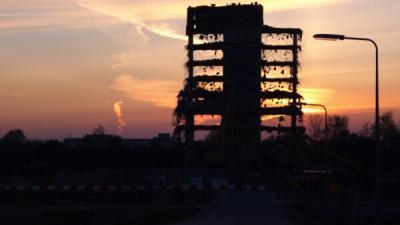 Sloop Quadrant-gebouw in Diemen zuid in beeld