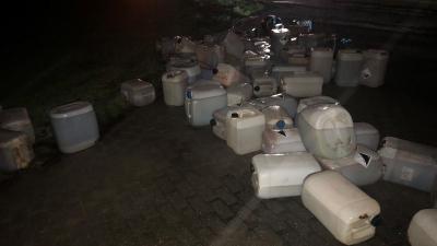 dumping van vermoedelijk synthetische drugs