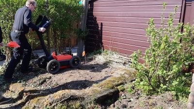 Politieonderzoek in tuin levert niks op