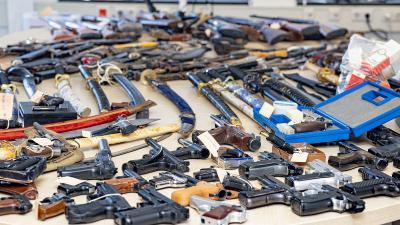 ingeleverde wapens
