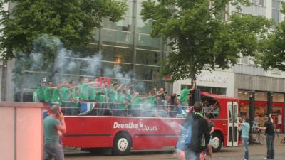 Foto van huldiging FC Groningen | Bert van den Berg
