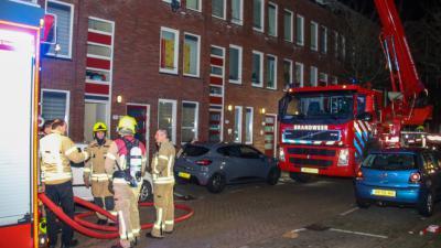 Uitslaande woningbrand in Rotterdam