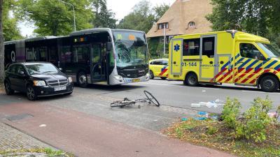 Zwaar beschadigde bus
