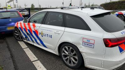 Verdachte klemgereden door politie