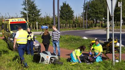 Foto van ongeval met bromfiets | Persburo Sander van Gils | www.persburausandervangils.nl