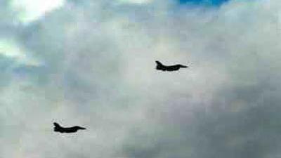 Foto van twee F-16's | Min. Defensie