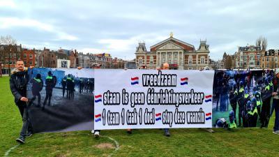 Demonstratie op Museumplein