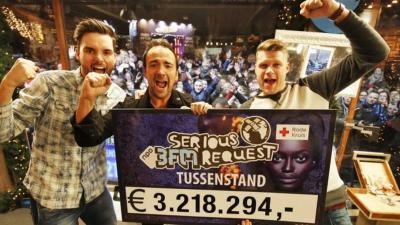 Al ruim 3,2 miljoen euro voor Serious Request Haarlem