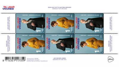 75 jaar vrijheid op postzegels