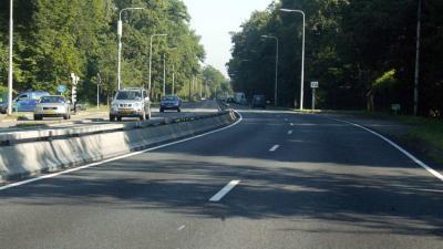 A44 dicht na ongeval met meerdere voertuigen