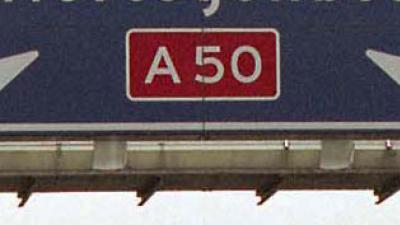 A50 dicht door kettingbotsing met 11 voertuigen
