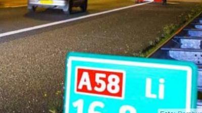Automobilist op A58 bewusteloos geslagen bij beroving auto