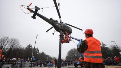 Helikopter markeert bakermat luchtmacht Soesterberg