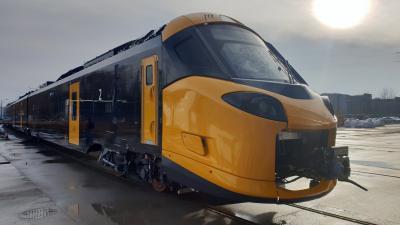 Nieuwe trein NS maakt eerste proefrit