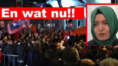 Turkse minister toch aangekomen nabij Turks consulaat in Rotterdam