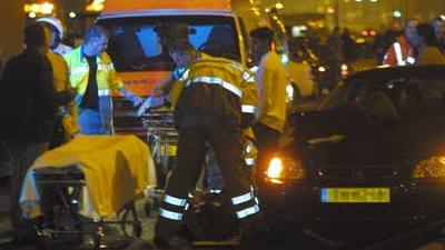 Foto van aanrijding ambulance donker | Archief EHF