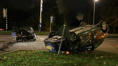 Ravage na aanrijding Rotterdam
