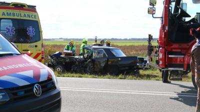 Gewonde bij ongeval busje en oldtimer
