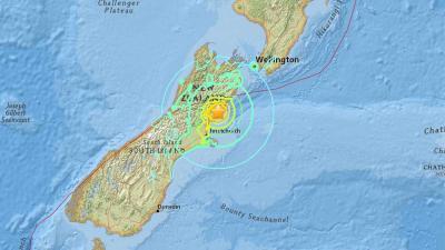 Zware aardbeving van 7,5 op schaal Richter treft Nieuw-Zeeland