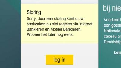 Grote storing treft ABN-Amro. Internetbankieren lukt niet
