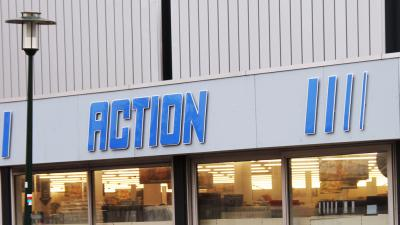 logo-Action-winkelpand-foto ter illustratie