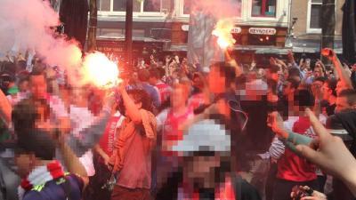 Foto van Ajax-fans Leidseplein | BON