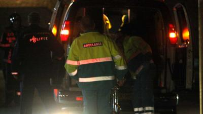 Foto van ambulance brandweer politie in donker   Archief EHF