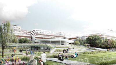 AMC krijgt nieuwe ingang met park
