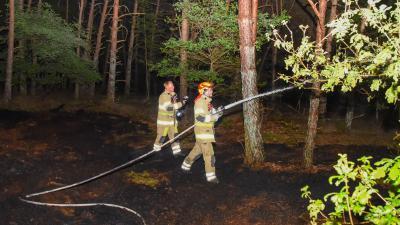 Brandweer blust natuurbrand
