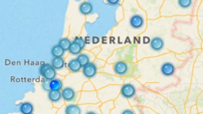 Foto van luchtkwaliteit app