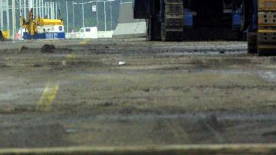 Foto van asfalteerwerkzaamheden snelweg   Archief FBF