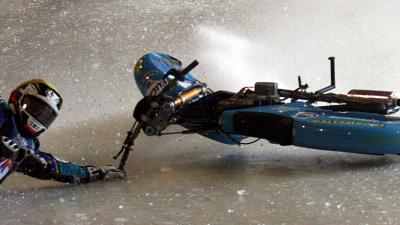 foto van WK-ijsspeedway   Frank van den Berg