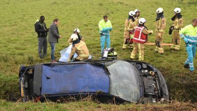 Twee gewonden door ongeval A28 bij Zuidwolde