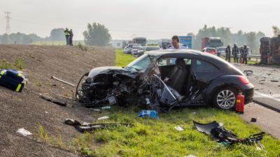 Foto van auto ongeval N59 | Flashphoto | www.flashphoto.nl