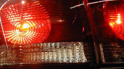 Foto van achterlicht van auto | Archief EHF