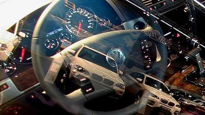Foto van auto stuur raam spiegeling VW | Archief EHF